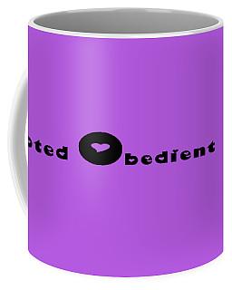 Dog With Black Words Coffee Mug