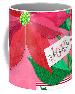 Poinsettia In Christmas Cup Coffee Mug