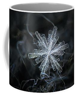 Coffee Mug featuring the photograph Real Snowflake - 18-dec-2018 - 3 by Alexey Kljatov