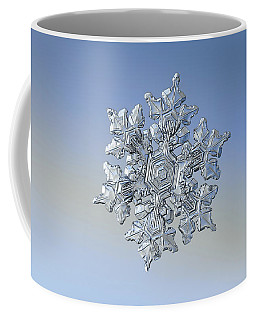 Coffee Mug featuring the photograph Real Snowflake - 05-feb-2018 - 17 by Alexey Kljatov