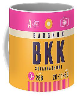 Retro Airline Luggage Tag - Bkk Bangkok Thailand Coffee Mug