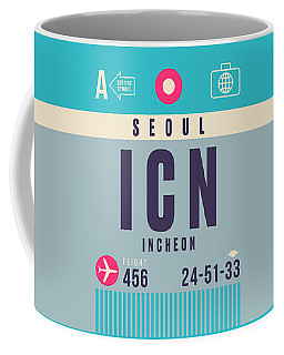 Retro Airline Luggage Tag - Icn Seoul Incheon Coffee Mug