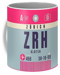 Retro Airline Luggage Tag - Zrh Zurich Airport Switzerland Coffee Mug