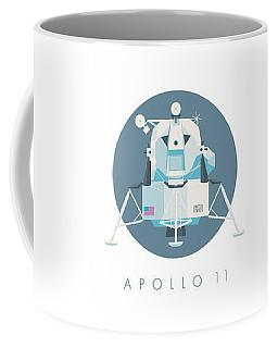 Apollo Lunar Module Lander Minimal - Text Slate Coffee Mug