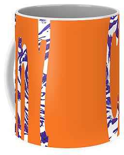 Cabin 7 Blue White Orange Coffee Mug