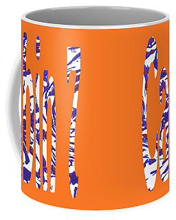 Cabin 7 Blue White Orange Coffee Mug