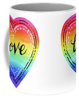 Rainbow Heart Love Coffee Mug