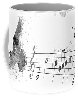 Somewhere Over The Rainbow In Black And White Coffee Mug