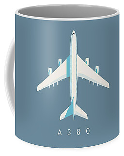 A380 Super Jumbo Jet Airliner - Slate Coffee Mug