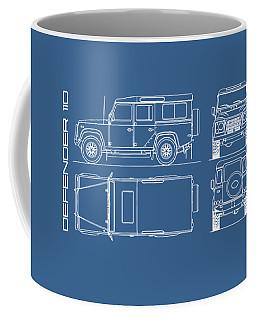 Defender 110 Blueprint Coffee Mug