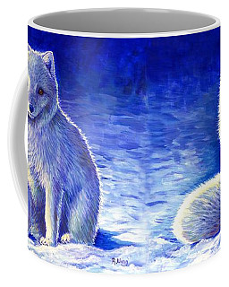 Peaceful Winter Arctic Fox Coffee Mug