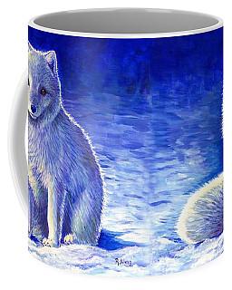 Colorful Winter Arctic Fox Coffee Mug