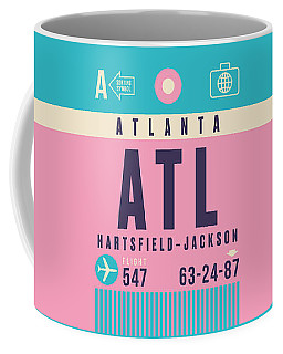 Retro Airline Luggage Tag - Atl Atlanta Coffee Mug