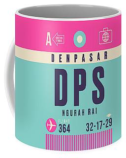 Retro Airline Luggage Tag - Dps Denpasar Bali Indonesia Coffee Mug