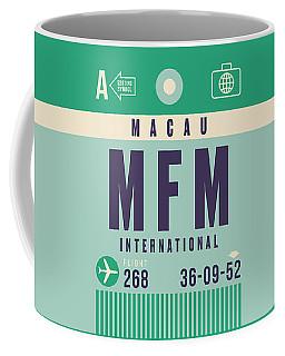 Retro Airline Luggage Tag - Mfm Macau Coffee Mug