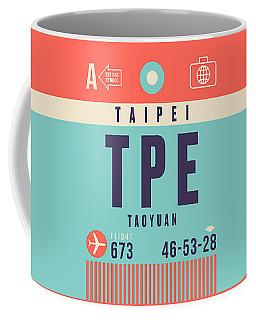 Retro Airline Luggage Tag - Tpe Taipei Taiwan Coffee Mug