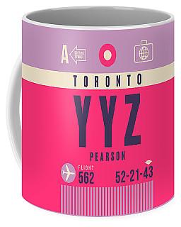 Retro Airline Luggage Tag - Yyz Toronto Canada Coffee Mug