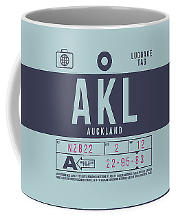 Retro Airline Luggage Tag 2.0 - Akl Auckland New Zealand Coffee Mug