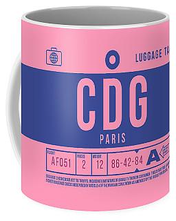 Retro Airline Luggage Tag 2.0 - Cdg Paris Charles De Gaulle France Coffee Mug