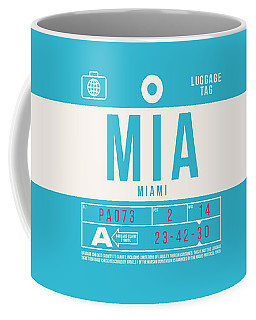 Retro Airline Luggage Tag 2.0 - Mia Miami International Airport United States Coffee Mug