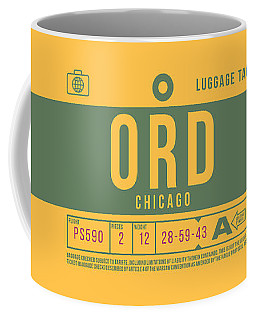 Retro Airline Luggage Tag 2.0 - Ord Chicago O'hare Airport United States Coffee Mug