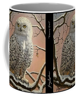 Coffee Mug featuring the painting Snowy Owl by Gary Lovelace