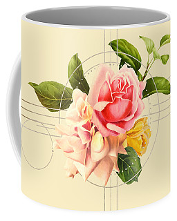 Coffee Mug featuring the digital art Golden Abstraction by Bee-Bee Deigner