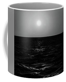 Aruba Sunset In Black And White Coffee Mug