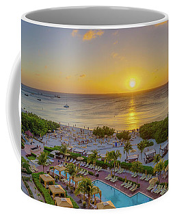 Coffee Mug featuring the photograph Aruban Sunset by Scott McGuire