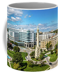 Coffee Mug featuring the photograph Ascension Columbia St. Mary's Hospital by Randy Scherkenbach