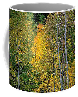 Aspens In Yellow Coffee Mug