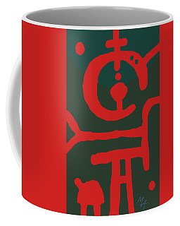Coffee Mug featuring the digital art Astronaut With A Dog by Attila Meszlenyi