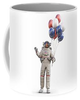Astronaut With Happy Balloons  Coffee Mug