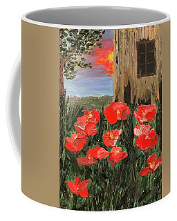 At Sunset By The Old Barn Coffee Mug