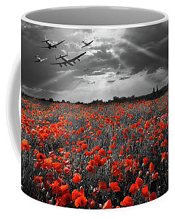 Coffee Mug featuring the photograph At The Going Down Of The Sun Selective Red Version by Gary Eason