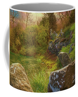 Coffee Mug featuring the photograph At The Water's Edge by Leigh Kemp