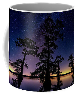 Coffee Mug featuring the photograph Atchafalaya Basin Under The Miky Way by Andy Crawford