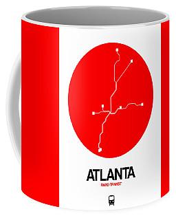 Atlanta Red Subway Map Coffee Mug
