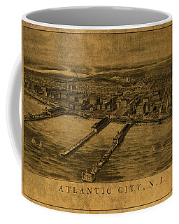 Atlantic City New Jersey Vintage City Street Map 1905 Coffee Mug