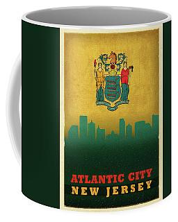 Atlantic City Skyline State Flag Of New Jersey Coffee Mug