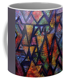 Coffee Mug featuring the painting Attractive Mosaic  by Arttantra
