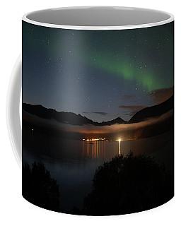 Aurora Northern Polar Light In Night Sky Over Northern Norway Coffee Mug