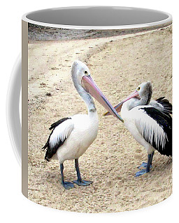 Coffee Mug featuring the photograph Australian Pelicans by Anthony Dezenzio
