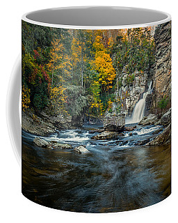 Autumn At Linville Falls - Linville Gorge Blue Ridge Parkway Coffee Mug