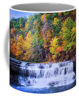 Coffee Mug featuring the photograph Autumn Beauty At Lower Taughannock Falls  by Lynn Bauer
