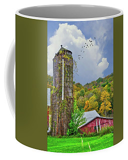 Coffee Mug featuring the photograph Autumn Bliss On The Farm - Finger Lakes, New York by Lynn Bauer