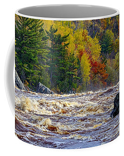 Autumn Colors And Rushing Rapids   Coffee Mug