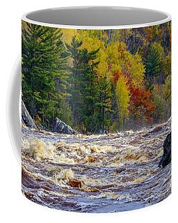 Autumn Colors And Rushing Rapids   Coffee Mug