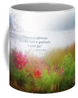 Autumn Fog On Eagle Lake Gratitude Art Coffee Mug