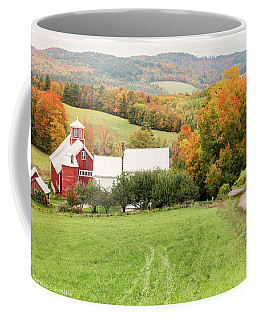 Coffee Mug featuring the photograph Autumn From The Bogie Mountain Farm - Vermont by Expressive Landscapes Fine Art Photography by Thom